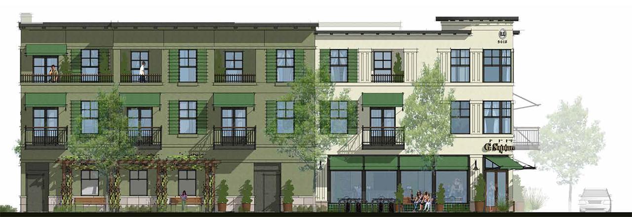 rendering of building exterior